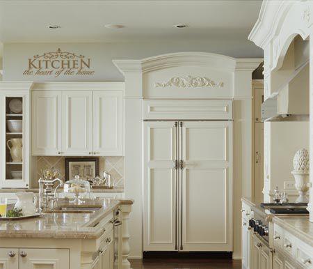 Great Kitchen Look At That Fridge Kitchen Cabinets Kitchen Vinyl Finish Kitchen Cabinets