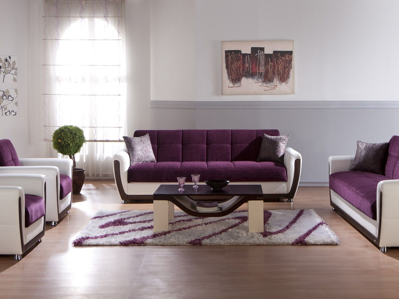 Dark Purple Living Room Set Deep Purple Living Room Set Light Purple