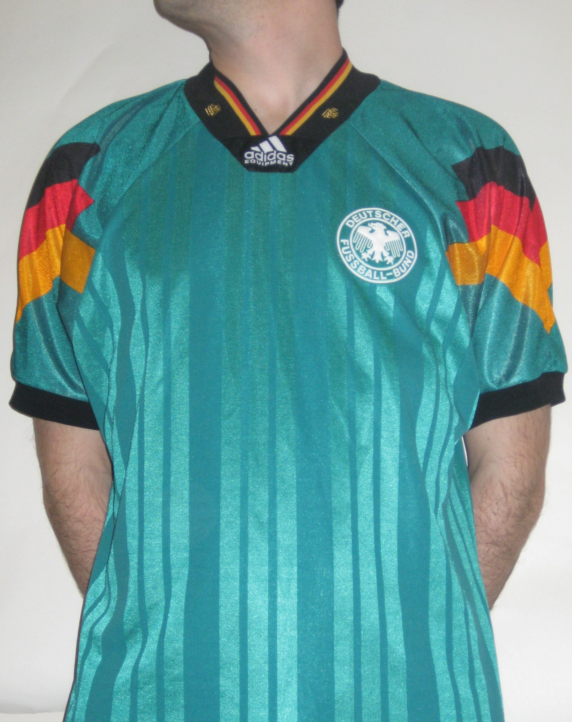 Germany Away - 1992. Germany wore this jersey during Euro  92 where ... 84b5dcc98