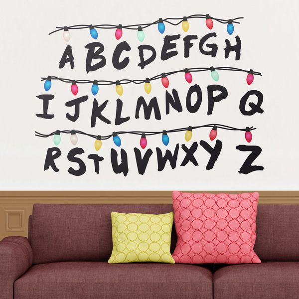 stickers muraux stranger things alphabet strangerthings tv deco webstickersmuraux. Black Bedroom Furniture Sets. Home Design Ideas