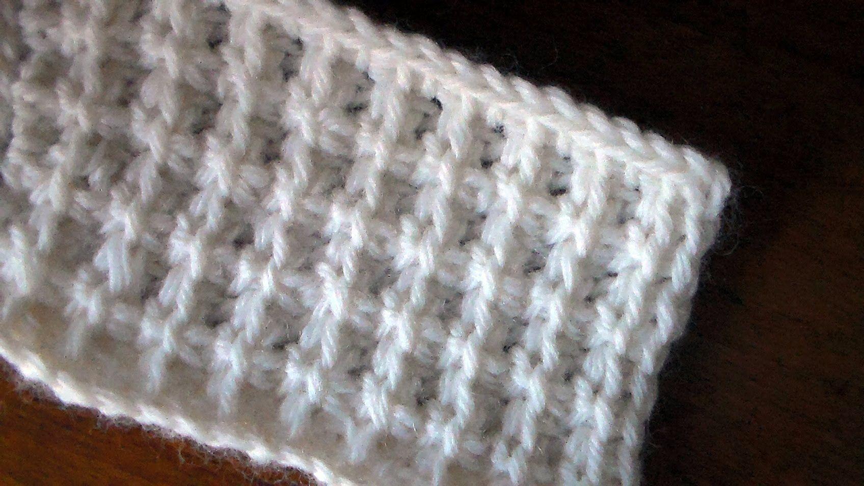Uncinetto tunisino Punto quadretti tutorial Tunisian crochet Square ...