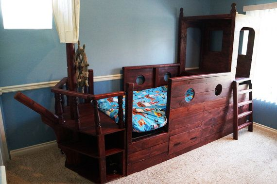 Pirate Boat Bed Awesome Wooden Pirate Bed By Adventurebeds