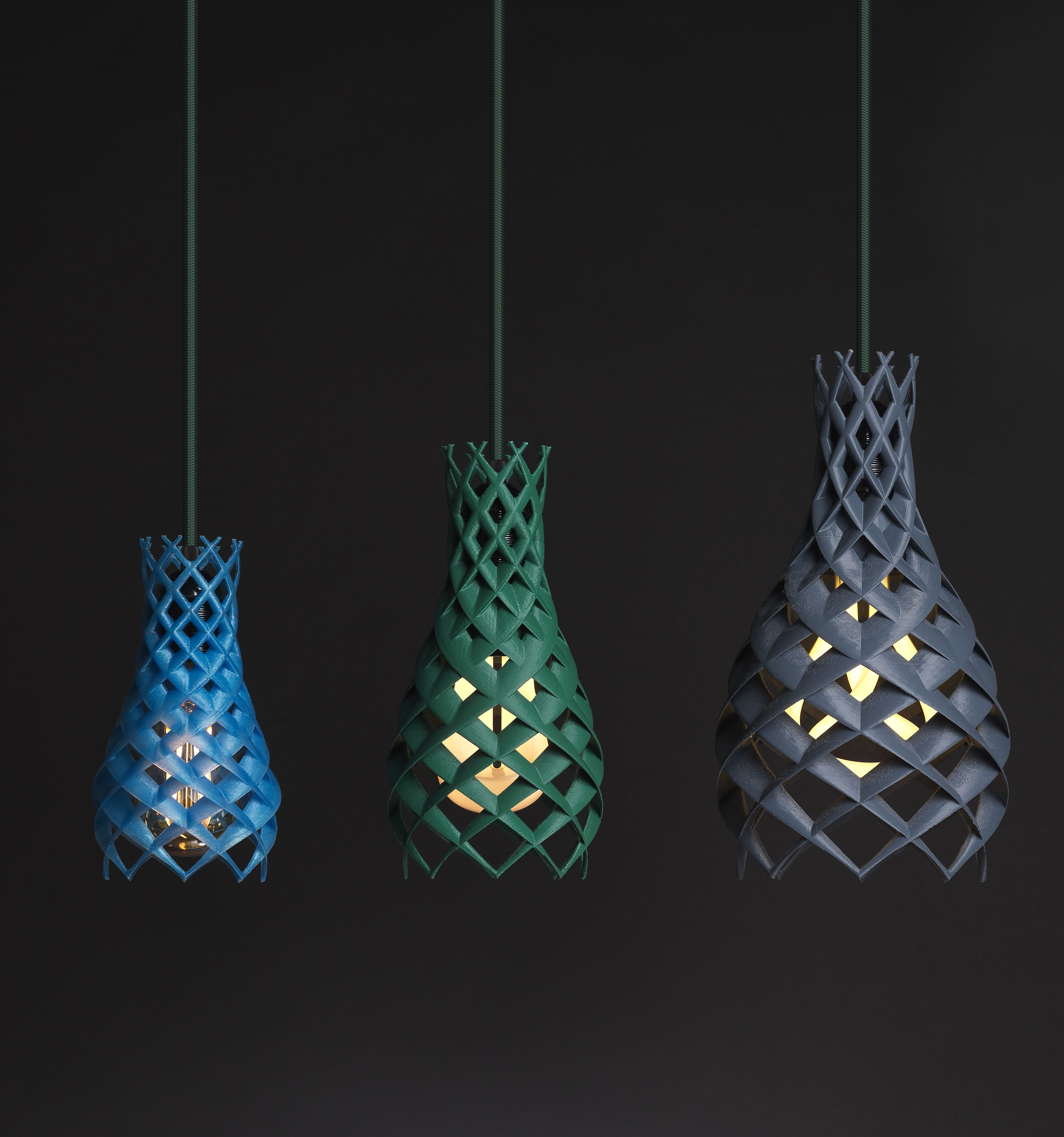 The Brand New 3d Printed Shade Ruche Provides The Unique Touch Of 3d Printing Along With Eye Catching Decor Plumen Light Light Bulb Design Plumen