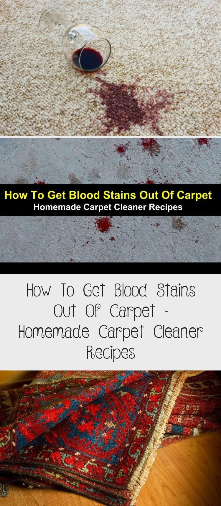 How To Get Blood Stains Out Of Carpet With Detailed Homemade Carpet Cleaner Rec In 2020 Get Blood Stains Out Carpet Cleaner Homemade Cleaner Recipes