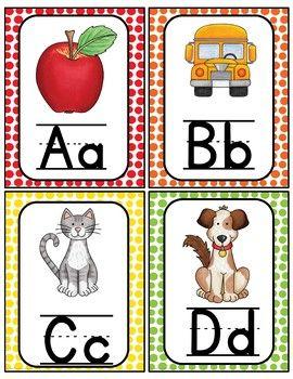 Alphabet Word Wall Cards U0026 ABC Chart