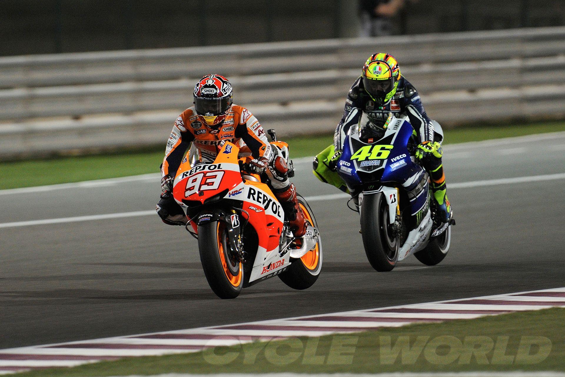 MotoGP Qatar Clash Of Giants, No Kidding!