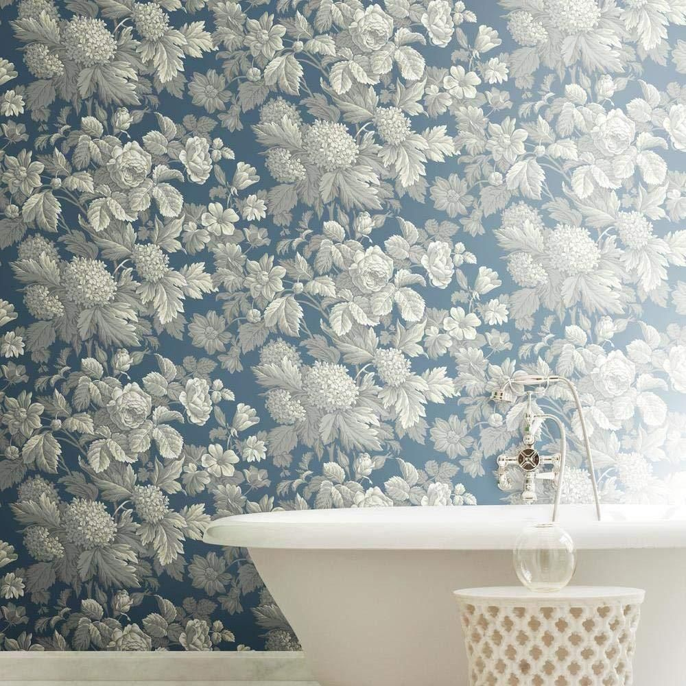 York Wallcoverings Antique Floral Paper Strippable Roll Wallpaper Covers 56 Sq Ft Kc1845 The Home Depot Hydrangea Wallpaper Wallpaper Roll Floral Wallpaper