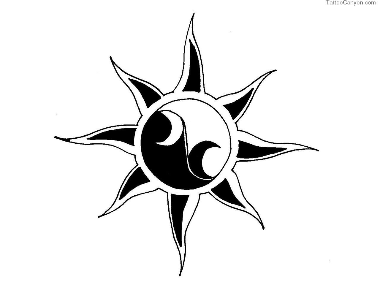Sunrise tribal tattoo designs tribal sun - Sun Tattoos Pictures And Designs Free High Quality Photographs Flash And Image Designs In Our Sun Tattoos Gallery Celtic Tattoos And Tribal Tattoos Shown
