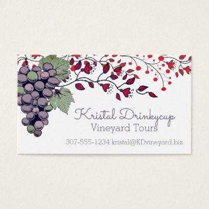 Grapes Personalized Business Cards