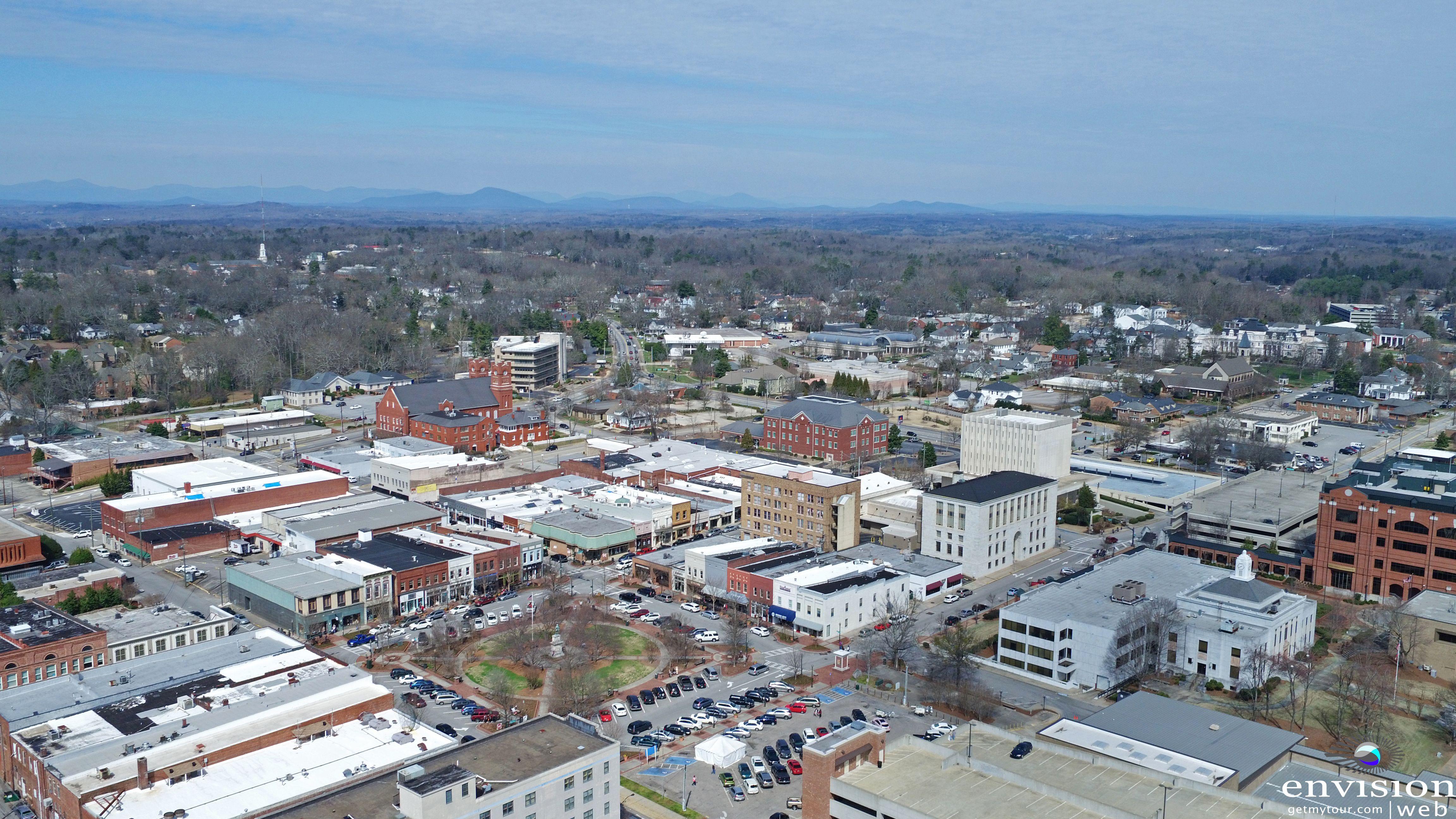 Downtown Gainesville Georgia Aerial Drone Panama City Panama