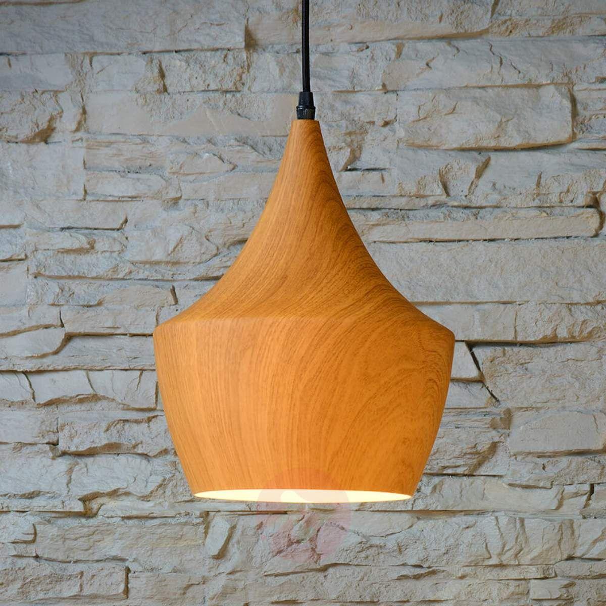 Woody – modna lampa wisząca, w stylistyce drewna | Glödlampa