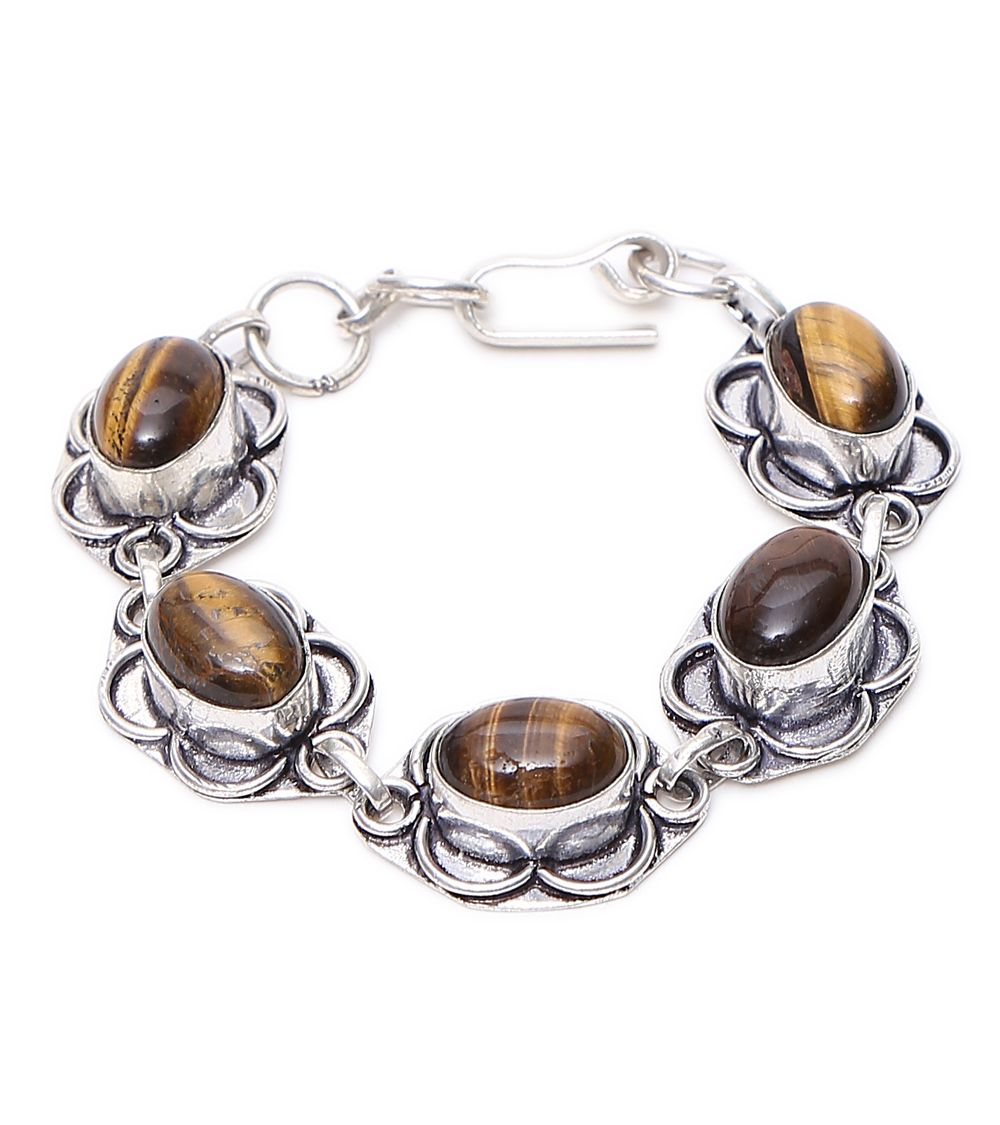 Brown Stone Embellished Bracelet #indianroots #jewellery #earrings #stone #embellished #occasionwear