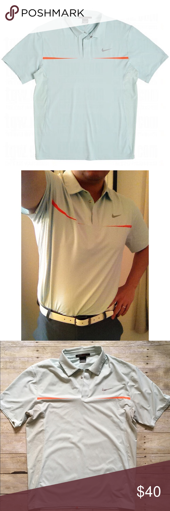 0ad685a4c4 Nike Golf Tiger Woods Collection dri-fit mens polo Style meets efficiency  with the Tiger