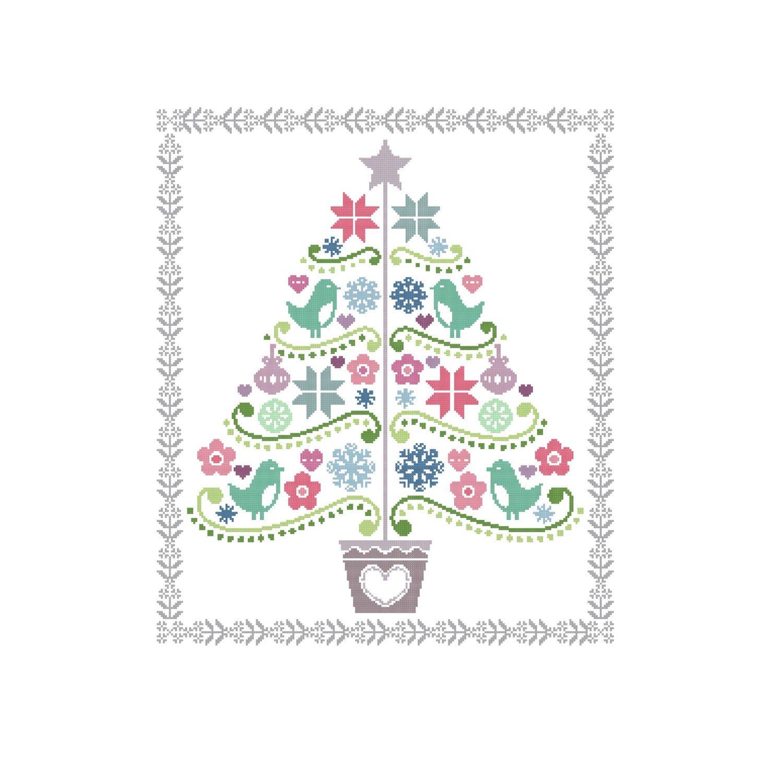 Scandinavian Christmas Tree Cross Stitch Cross Christmas Tree Cross Stitch Tree Scandinavian Cross Stitch