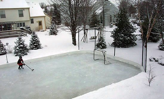 Build A Backyard Ice Rink And Challenge The Family To A Hockey Match Or Figure  Skate