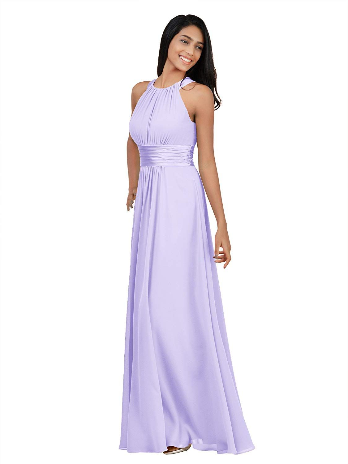 11ba55c3848 Alicepub Bridesmaid Maxi Dresses Long for Women Formal Evening Party Prom  Gown Halter at Amazon Women s Clothing store