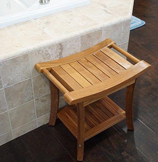 Welland 19 5 Teak Shower Bench With Handles Teak Shower Teak Shower Bench Teak Patio Furniture