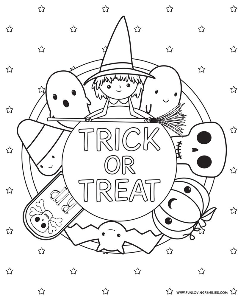 Halloween Coloring Pages Free Printables Paper Dies