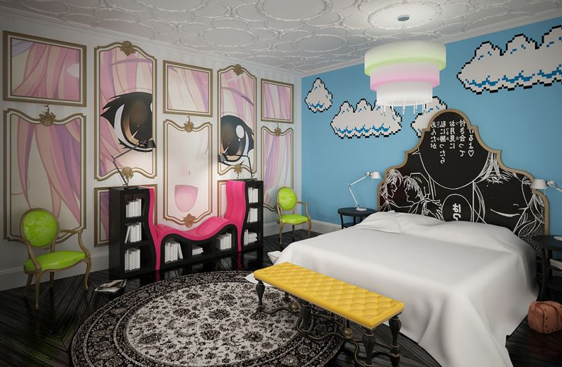 Image gallery manga bedroom for Anime themed bedroom ideas
