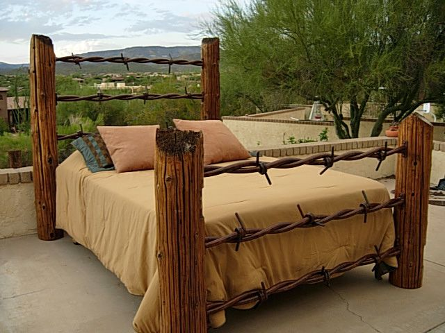 Barbed wire king size bed ive always wanted a bed like for Muebles barbed