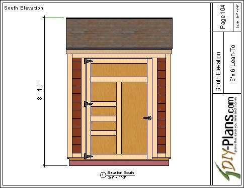 6x6 Lean To Shed Plan Lean To Shed Lean To Shed Plans Shed Floor Plans