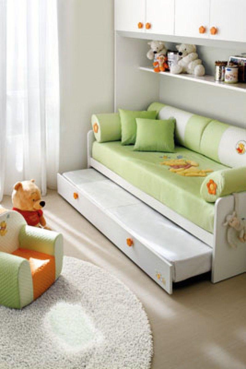 Composiciones para cuarto de bebés Winnie the Pooh y camas Disney ...