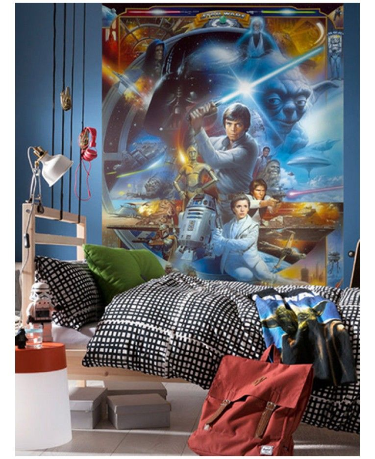 Star Wars Wall Mural 254 X 184cm Star Wars Wall Mural Wall Murals Star Wars Wallpaper