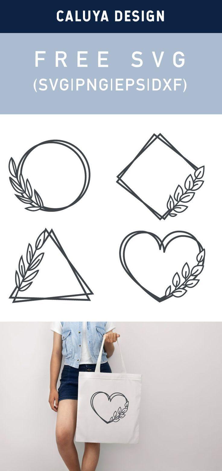 Free Leaf Frame SVG, PNG, EPS & DXF by Caluya Design
