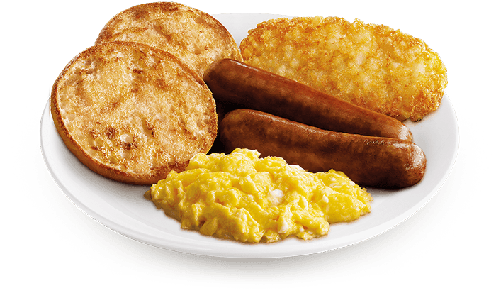 A Complete Breakfast To Kick Start Your Morning Delicious Scrambled Eggs Grated Cheese And Diced Bacon To Go Mcdonalds Big Breakfast Big Breakfast Cafe Food