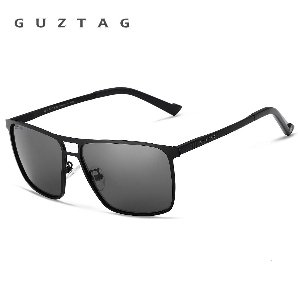 cd61dd7827 Find More Sunglasses Information about GUZTAG Mirror Sunglasses Polarized  UV400 Unisex Stainless Steel Square Eyewear Sun glasses Men Women G8029