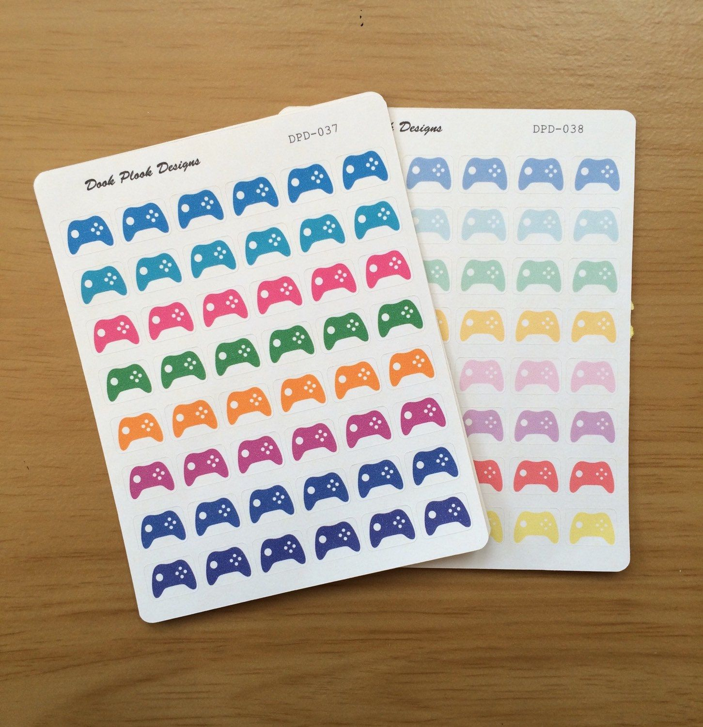 Gaming controller stickers for Erin Condren, Plum Paper, Filofax, Kikki K - pinned by pin4etsy.com