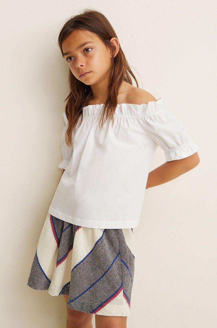 006794ad5839 Mango Kids - Dievčenská sukňa Lori 104-164 cm biela -80-SDG002