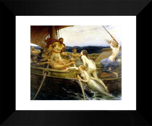 Ulysses and the Sirens 15x18 FRAMED Art Print by Draper, Herbert James