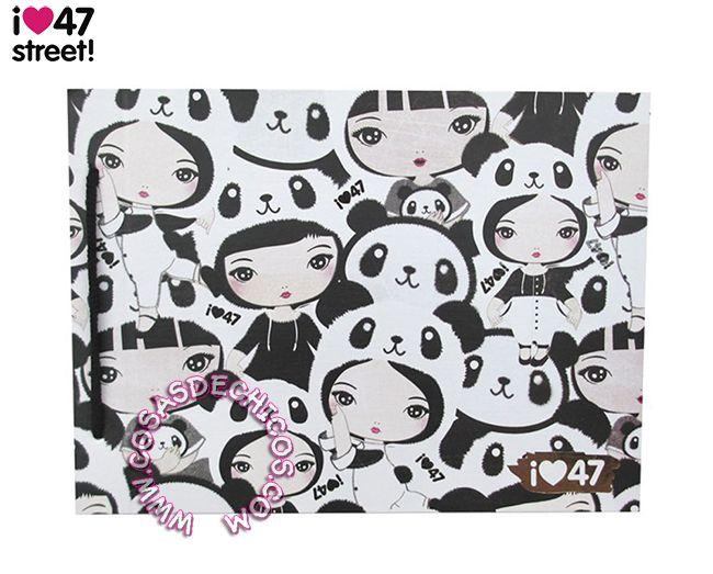#Carpeta @47street Dibujo Nº5 - #Pandas @47st #Original #BackToSchool