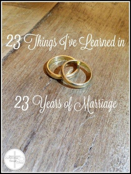 Today is my twenty-third wedding anniversary. Here's what I've learned over the years.