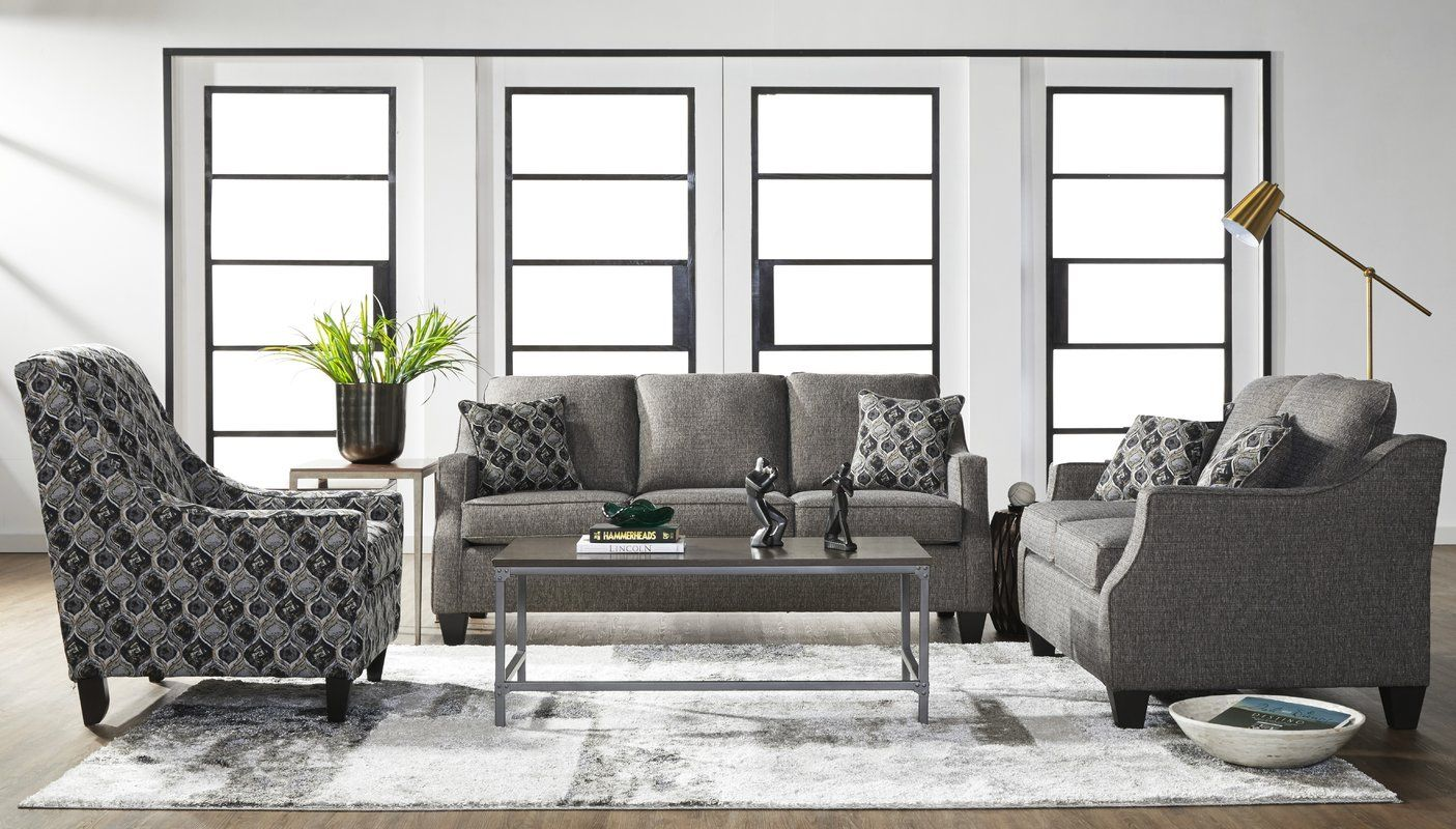 Serta Upholstery Zakary Configurable Living Room Set ...