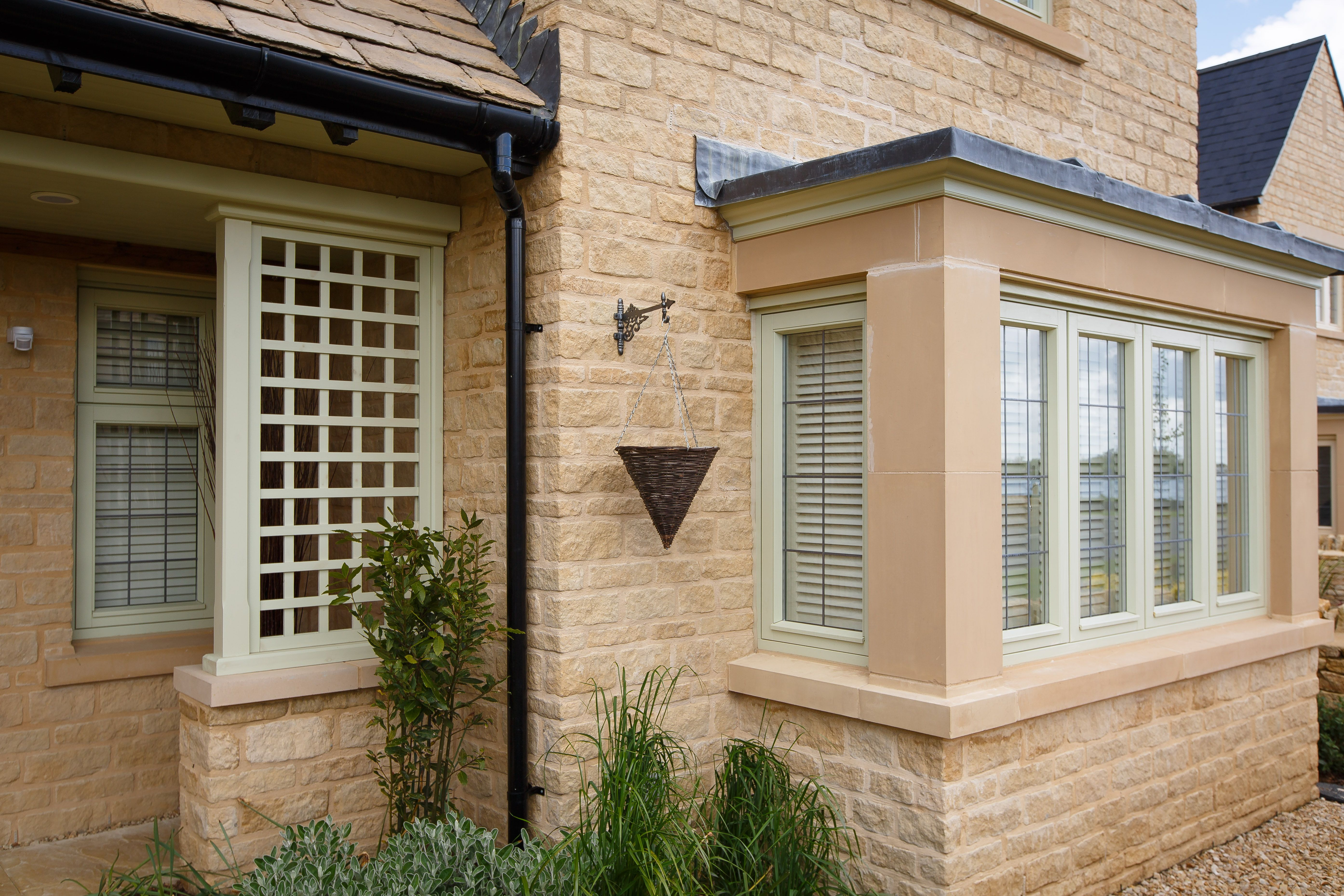 Exterior Shot Of Square Bay Window Shutters Bay Window Shutters Bay Window Window Shutters