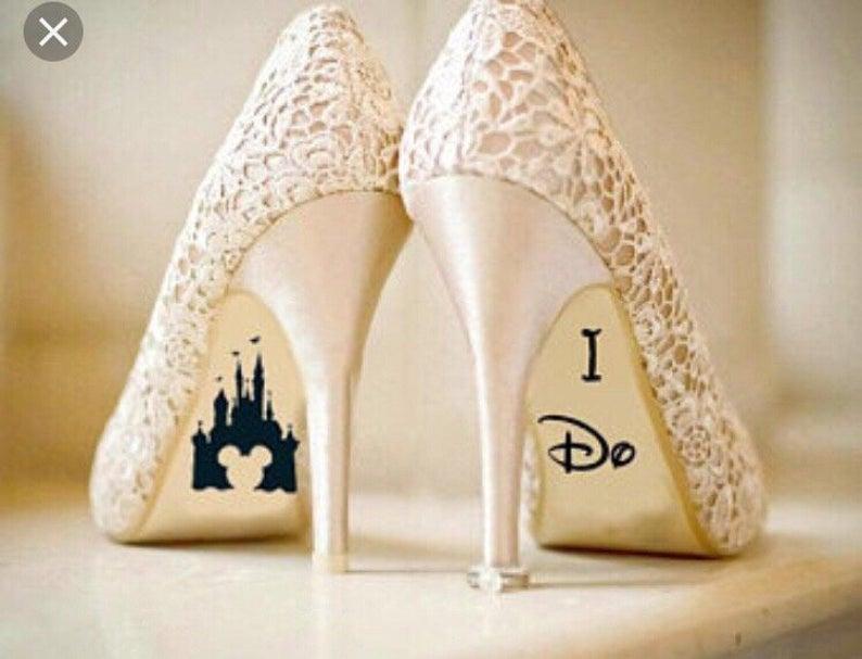 Disney wedding Mickey Minnie Mouse heel