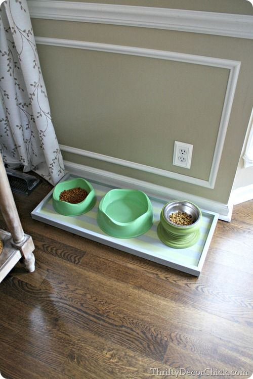 diy pet food tray your fur babies will love it