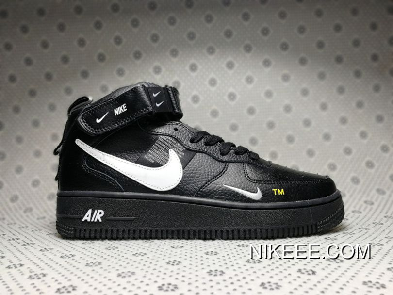 Nike Air Force 1 07 Mid Utility Pack Dark blue white double hook 804609 403 Mens Womens Winter Running Shoes 804609 403