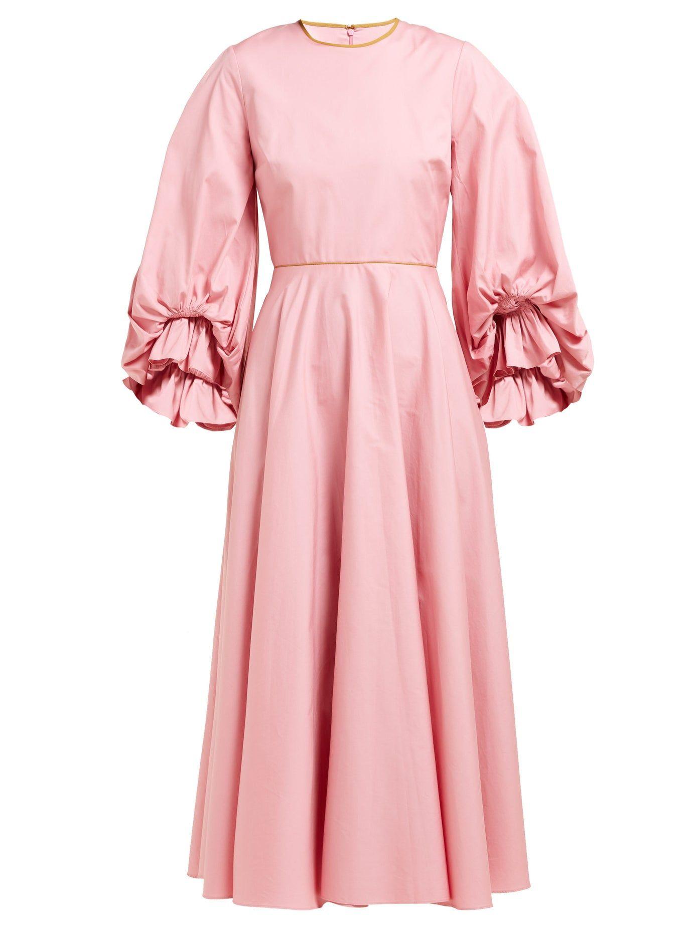 Fife balloonsleeve cottonpoplin dress roksanda