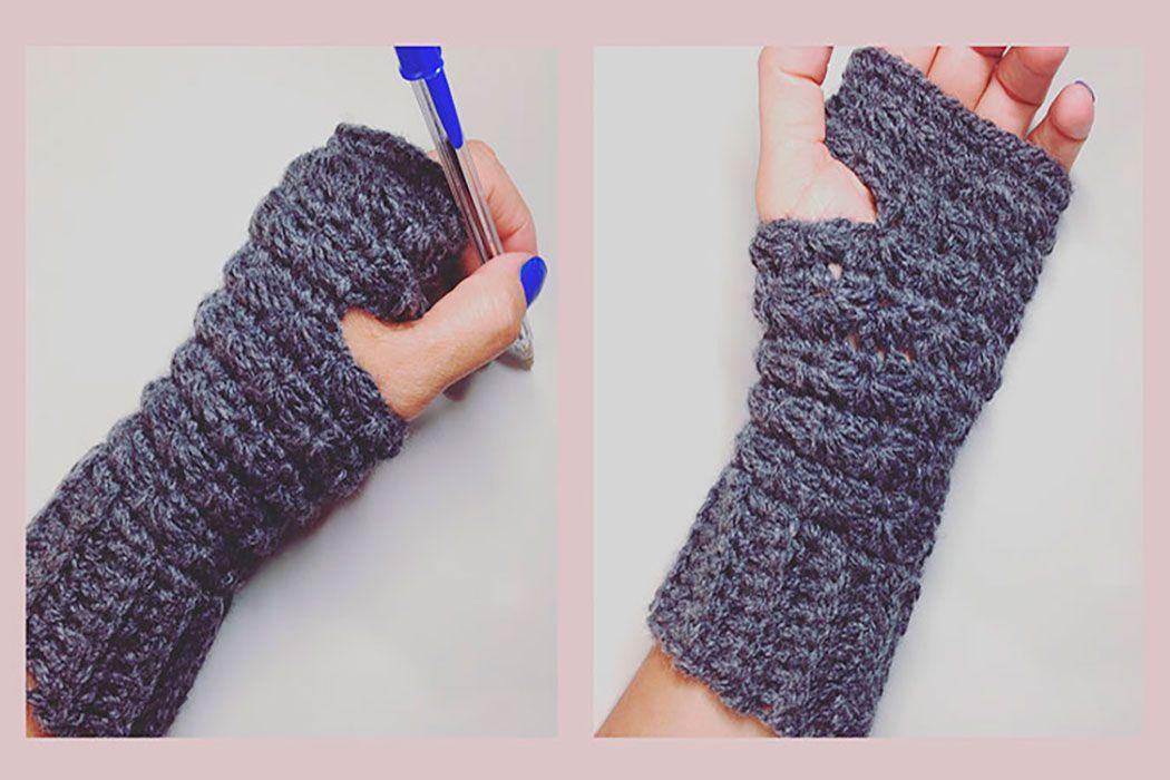 mitones punto estrella crochet | Tejidos | Pinterest | Mitones ...