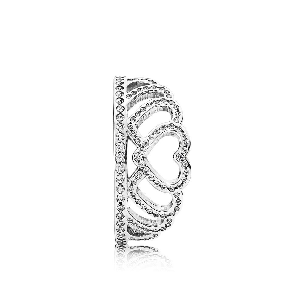 extravagant pandora hearts tiara ring is both classic and elegant and can be worn alone or stacked with other pandora rings for a layered design - Pandora Valentines Day Ring
