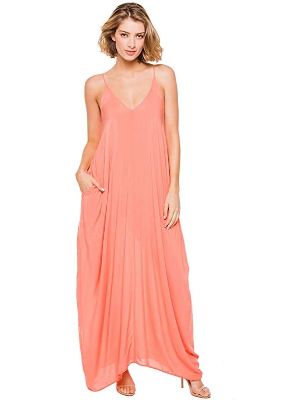 Elan Balloon Bottom Maxi Dress