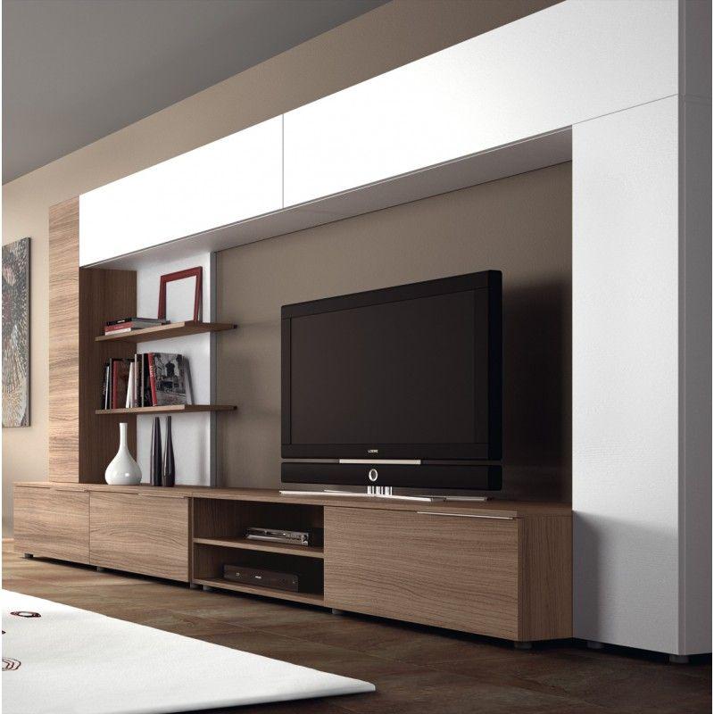 Meuble Tv Design Mural Ingrazia Atylia Living Room Entertainment Center Living Room Decor Modern Living Room Entertainment