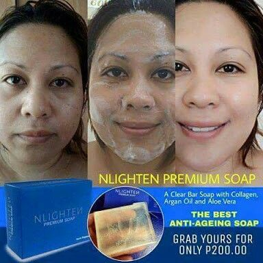 NLIGHTEN PREMIUM SOAP with Argon Oil, Aloe Vera and Collagen Php 200 + sf For people with Dry Face Message me for your orders