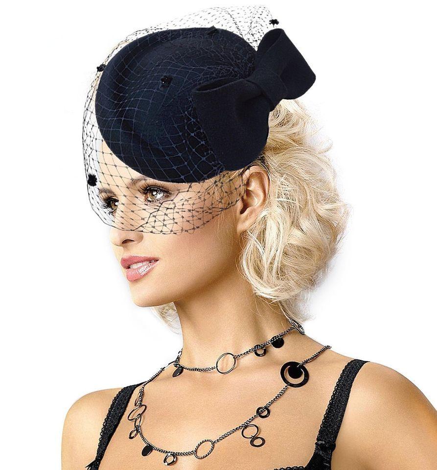 c4b3999294a Black A082 Womens Dress Fascinator Wool Felt Pillbox Hat Party Wedding Bow  Veil