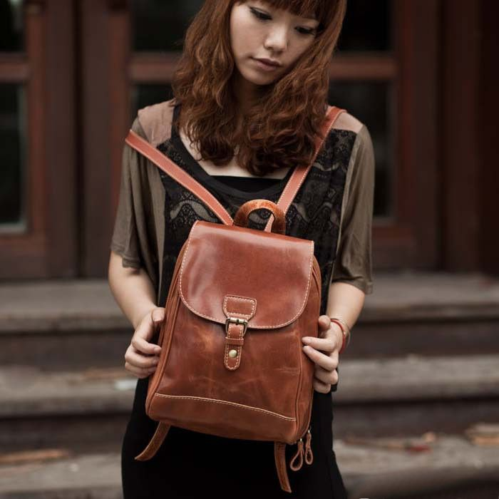 Handmade Genuine Leather Women's Backpack Day Pack | My Style ...