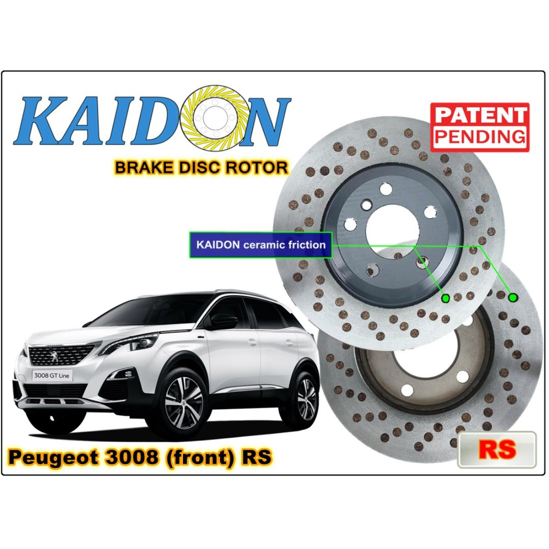 Peugeot 3008 Brake Disc Rotor Kaidon Front Type Rs Bs Spec