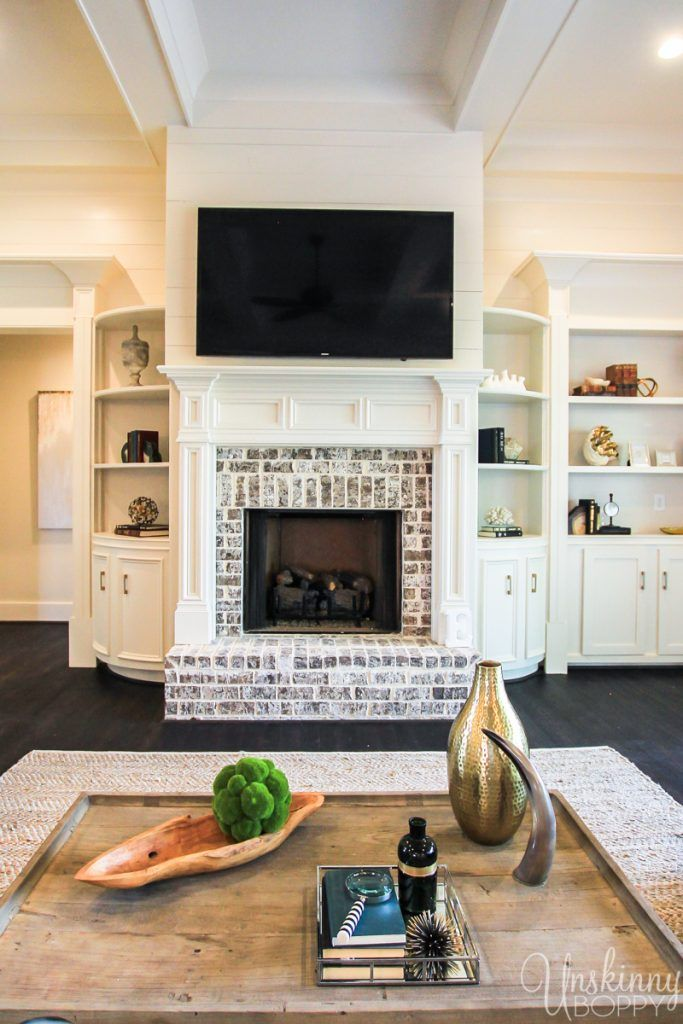 Fireplace with curved built-ins Design Ideas from the 2017 ...